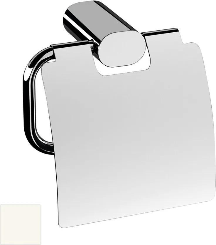 Flori RF007/14 držiak toaletného papiera s krytom, biely matný
