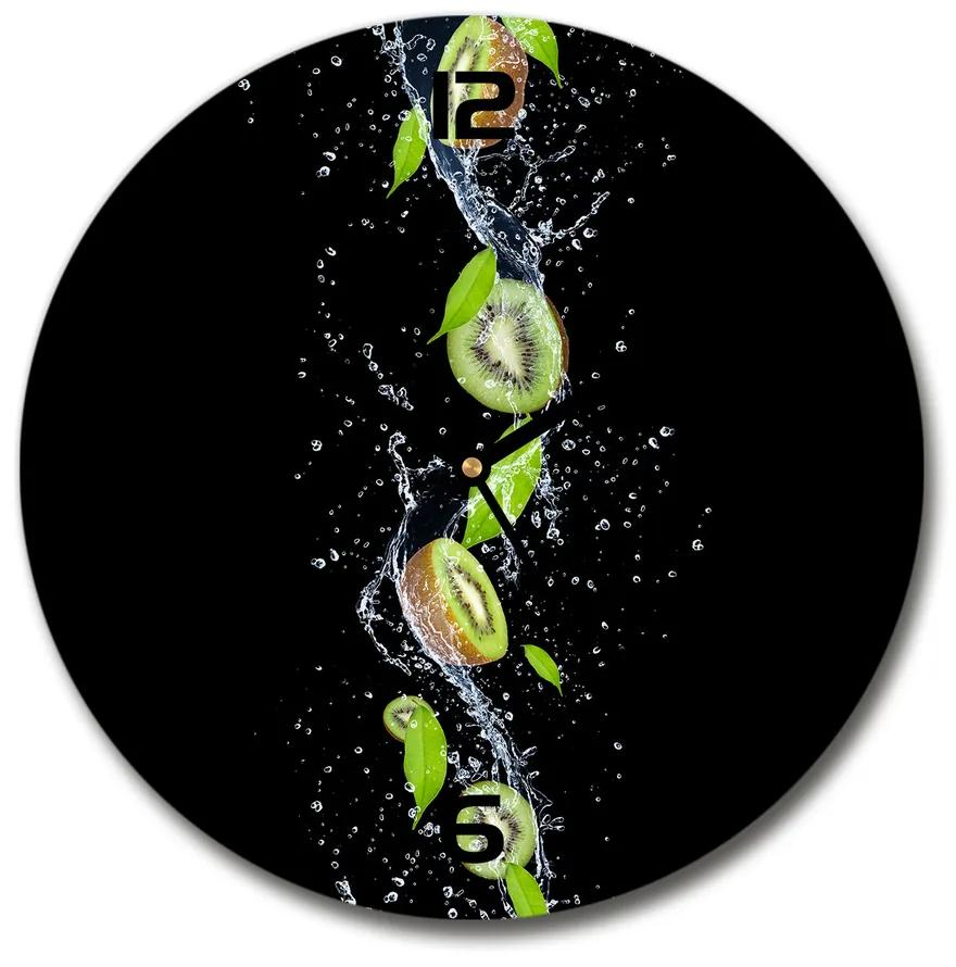 Sklenené hodiny na stenu Kiwi a voda pl_zso_30_f_51417101