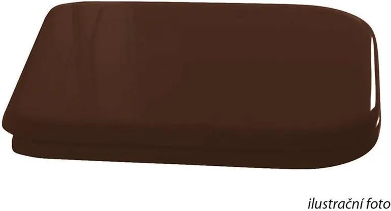 Waldorf 418640 WC sedátko Soft Close, drevo masív, orech/ bronz