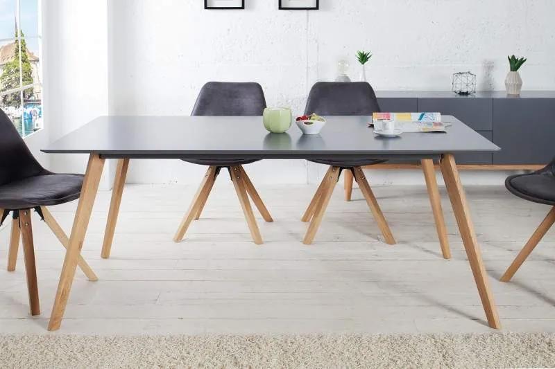 Jedálenský stôl Scandinavia Grafit 90 x 160cm