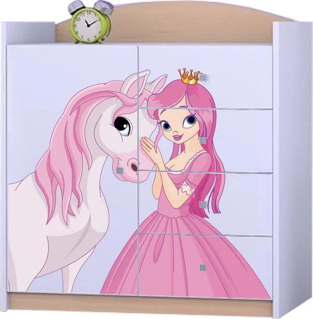 OR Komoda Mery K08 Motív: I - Princezna s koníkom