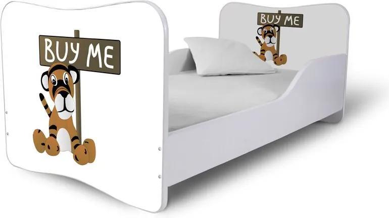 MAXMAX Detská posteľ TIGRÍK + matrac ZADARMO 160x80 pre všetkých NIE