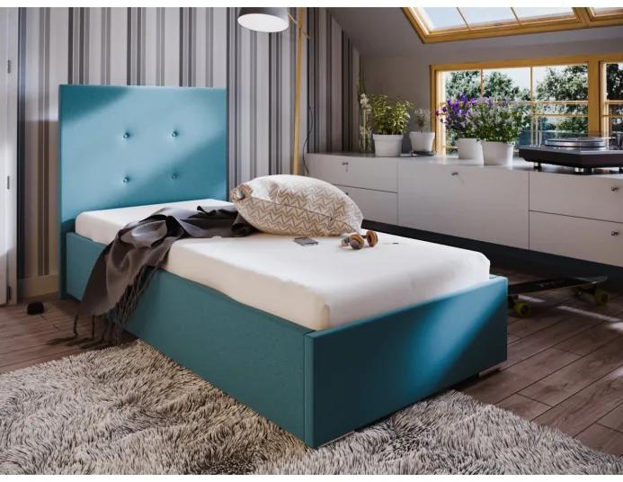 Jednolôžková posteľ 80x200 FLEK 1 - modrá