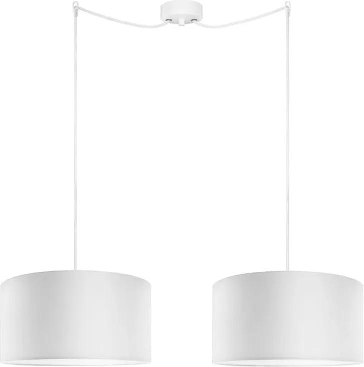 Biele dvojramenné závesné svietidlo Sotto Luce MIKA Elementary OY