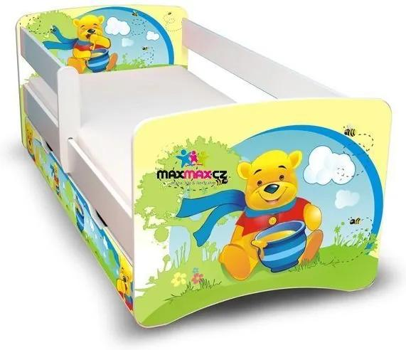 MAXMAX Detská posteľ so zásuvkou 180x90 cm - MACKO S MEDOM II 180x90 pre všetkých ÁNO