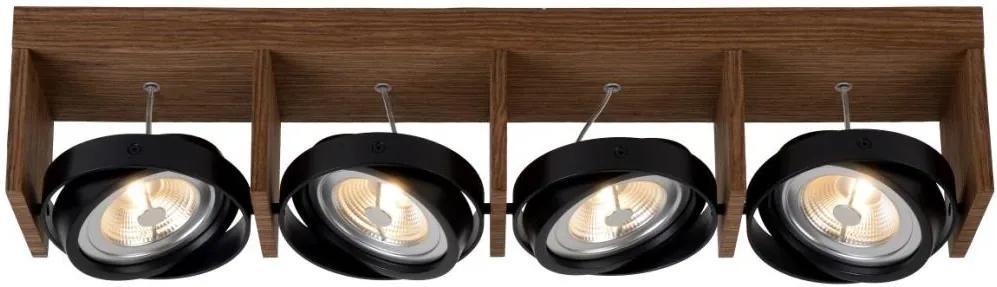 Lucide Lucide 31988/48/70 - LED bodové svietidlo ZETT-LED 4xG53/12W/230V/12V hnedé LC1827