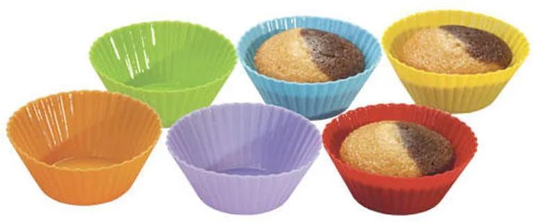 Silikonové pečicí formy (košíčky) na muffiny 6 ks Lekue