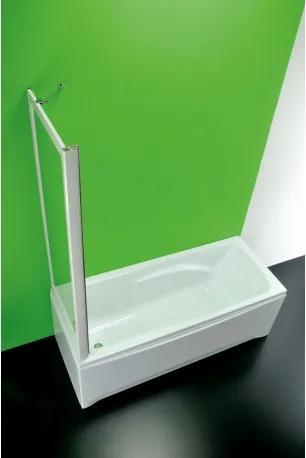 HOPA - Vanová zástěna SOPRAVASCA FISSA MA - Plast bílý, 70 - 67 cm × 150 cm, Nelze otevírat, Polystyrol, Univerzální (BSSVF70MAP)