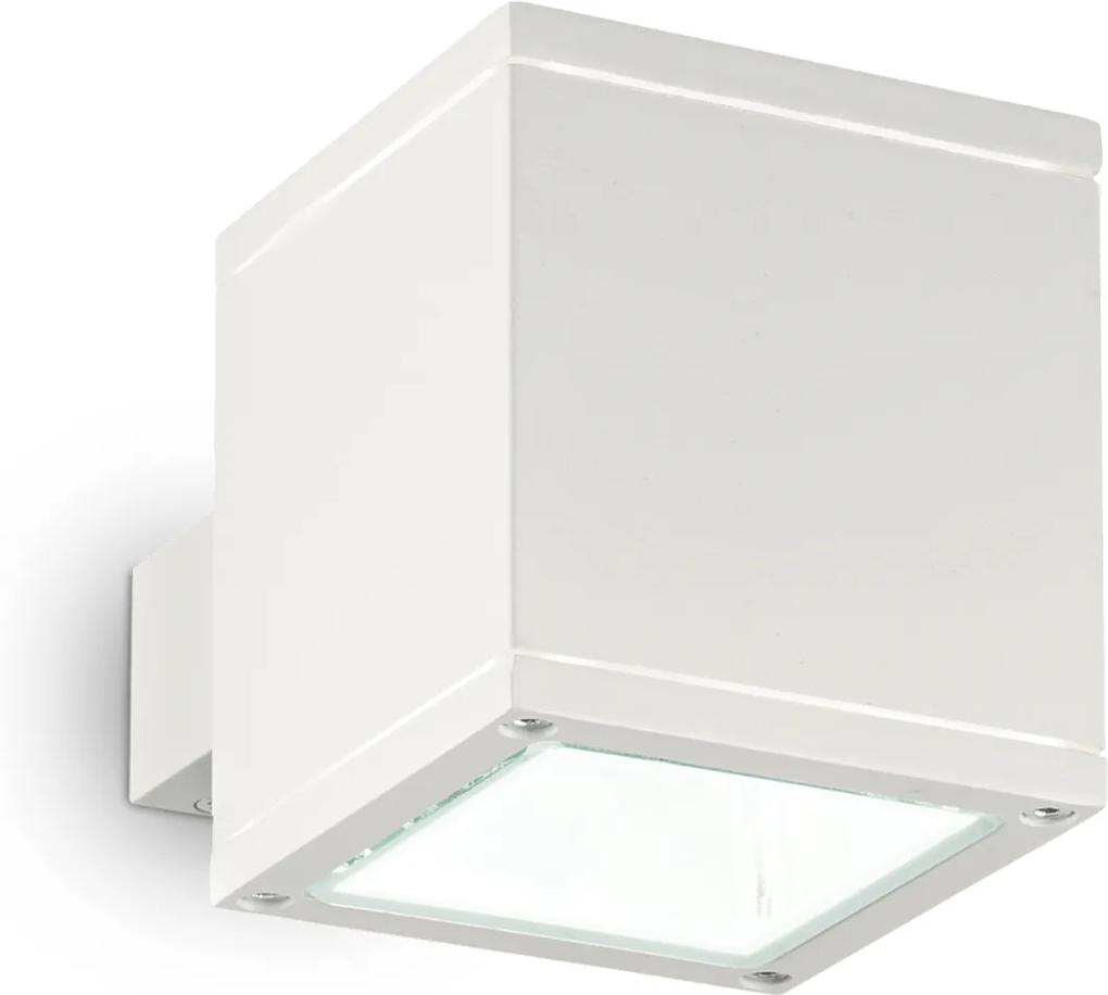 Exteriérové nástenné svietidlo Ideal lux 144276 SNIF SQUARE AP1 BIANCO 1xG9 40W biela IP44