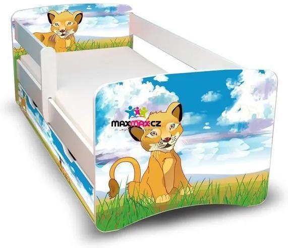 MAXMAX Detská posteľ so zásuvkou 180x90 cm - LEVÍK II 180x90 pre všetkých ÁNO