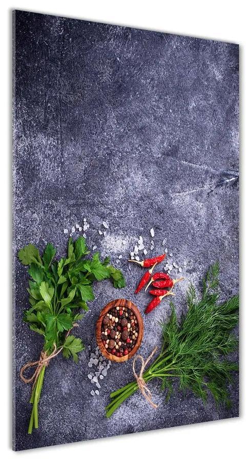 Foto obraz akrylový Bylinky a koreniny pl-oa-70x140-f-193474883