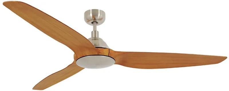 Stropný ventilátor Airfusion Type A 154 brúsený chróm / teak Beacon Lighting Ltd. 211010