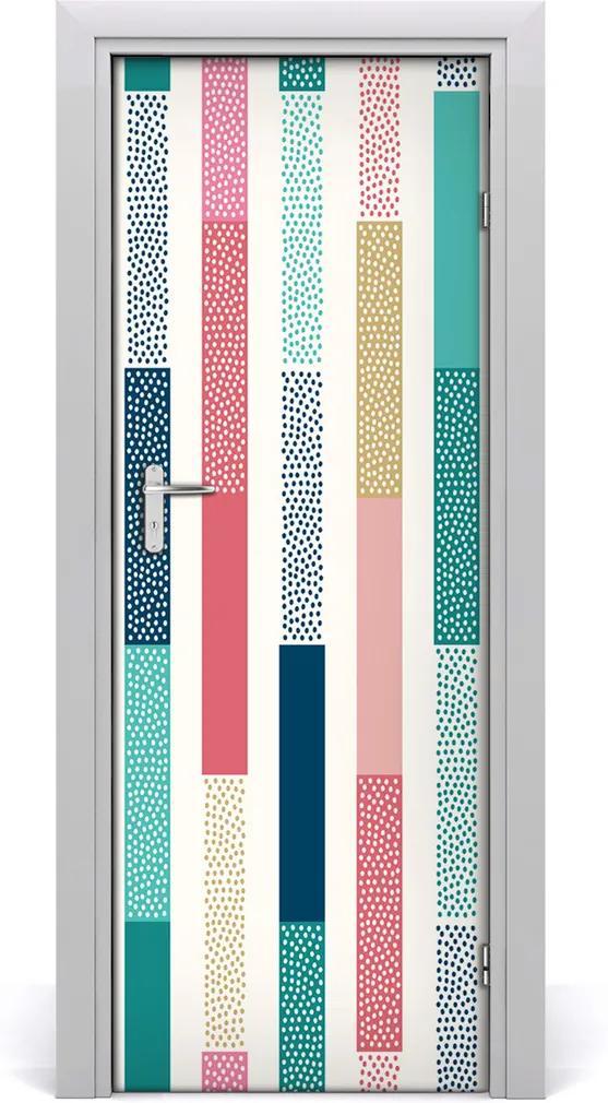 Fototapeta na dvere  farebné pásy