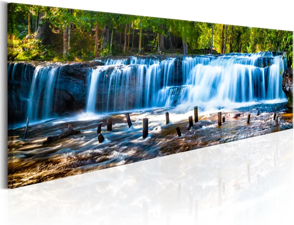 Obraz - Beautiful Waterfall 120x40