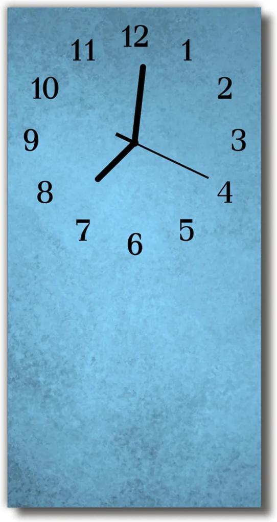Skleněné hodiny vertikální Uměle modrá mražená modrá
