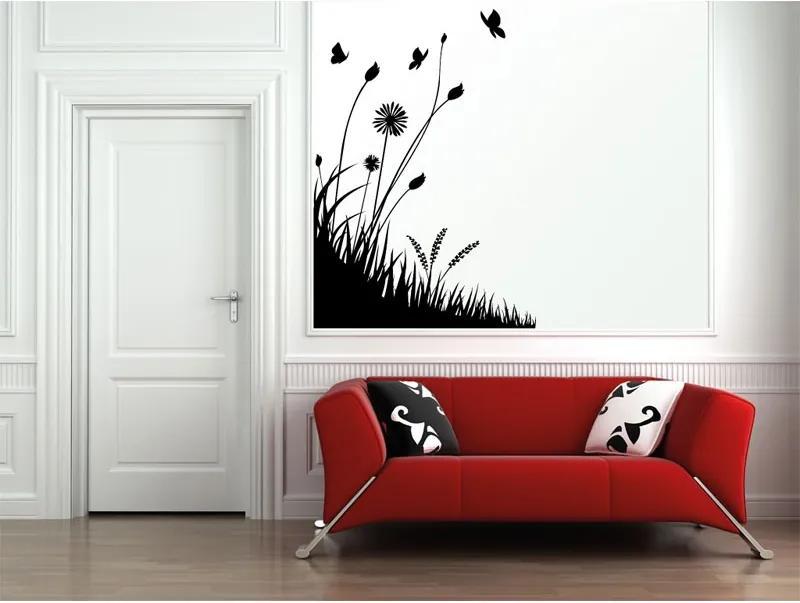 Vinylová samolepka na stenu, tráva