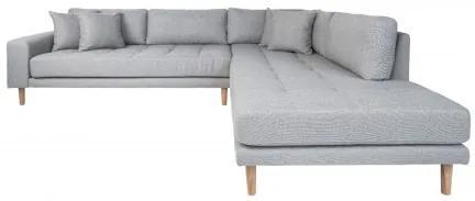 Rohová pohovka s rohem LIDO 257 cm,polyester světle šedý, pravý roh House Nordic 1301401P