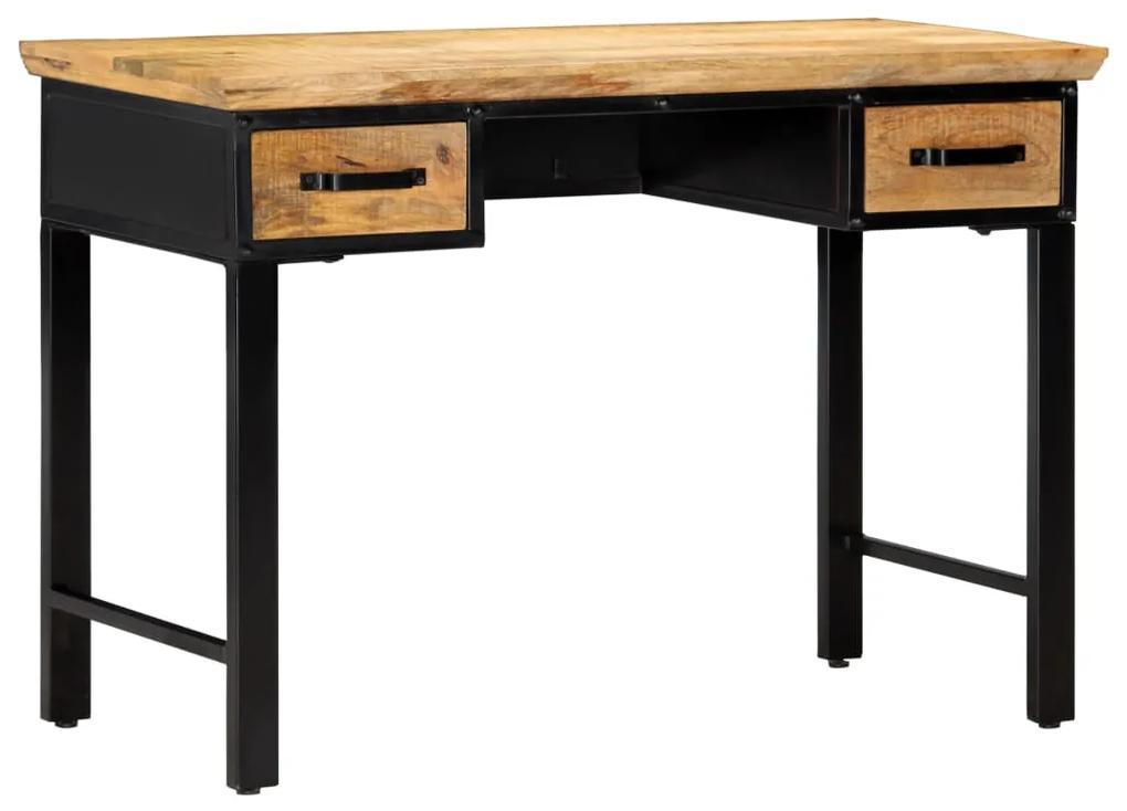 vidaXL Písací stôl 110x50x76 cm masívne mangovníkové drevo