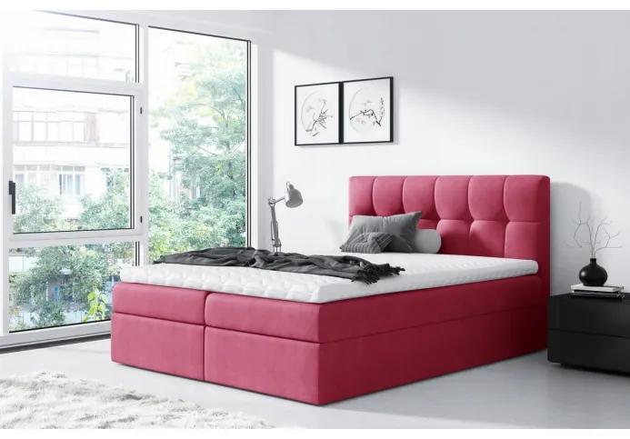 Jednoduchá posteľ Rex 120x200, červená