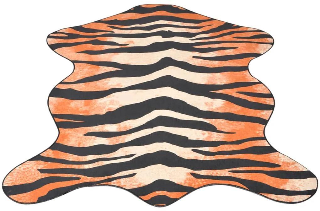 vidaXL Tvarovaný koberec, 150x220 cm, tigria potlač