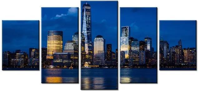 Tlačený obraz New York pri rieke Hudson 150x70cm 2339A_5B