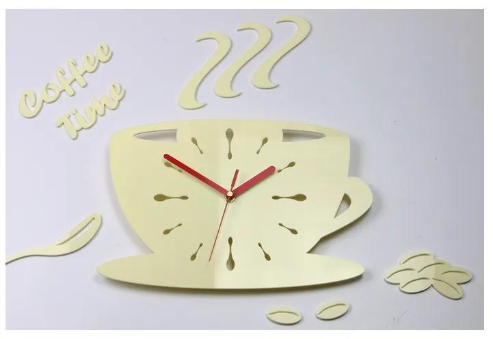 Mazur Nástěnné hodiny Kaffé krémové