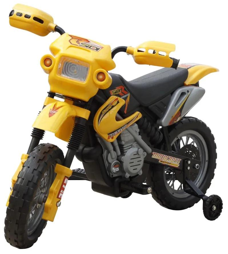 Elektrická motorka pre deti žltá