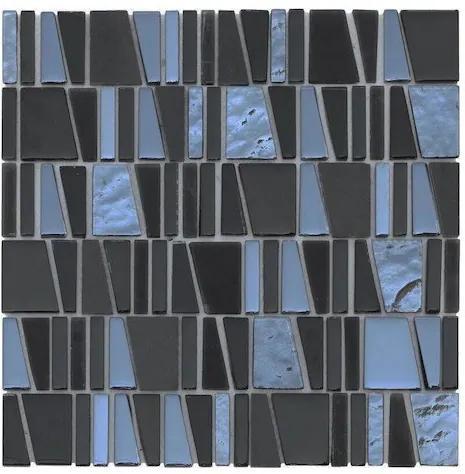 Sklenená mozaika Premium Mosaic černá 30x30 cm lesk MOSCUBEBK