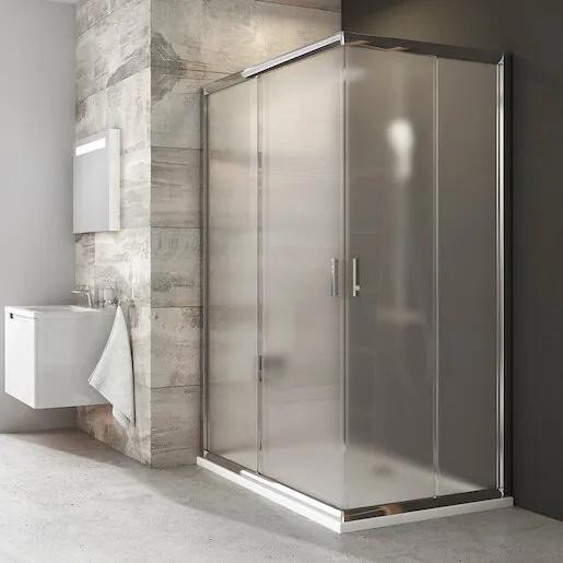 Sprchový kút Ravak Blix štvorec 110 cm, nepriehľadné sklo, chróm profil 1XVD0C00ZG
