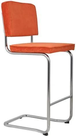 Ridge Kink Rib Barstool Orange Zuiver 1500201