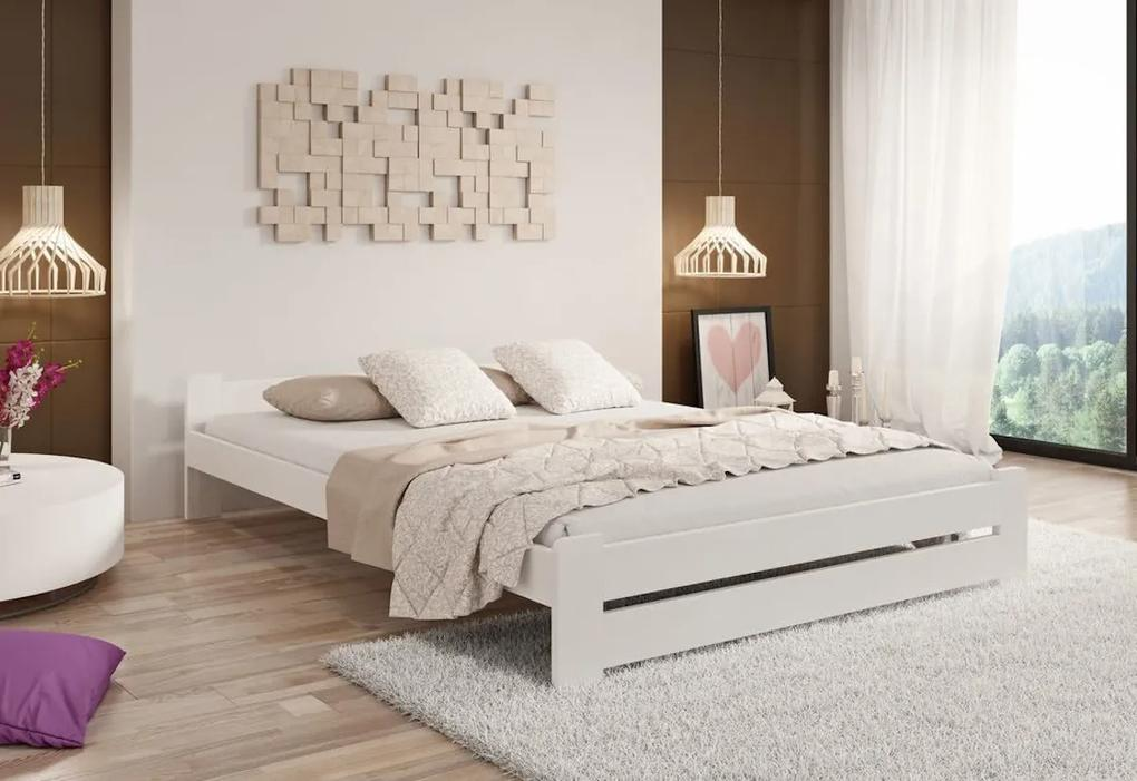 Posteľ s matracom a roštom HERA, 140x200 cm, biela