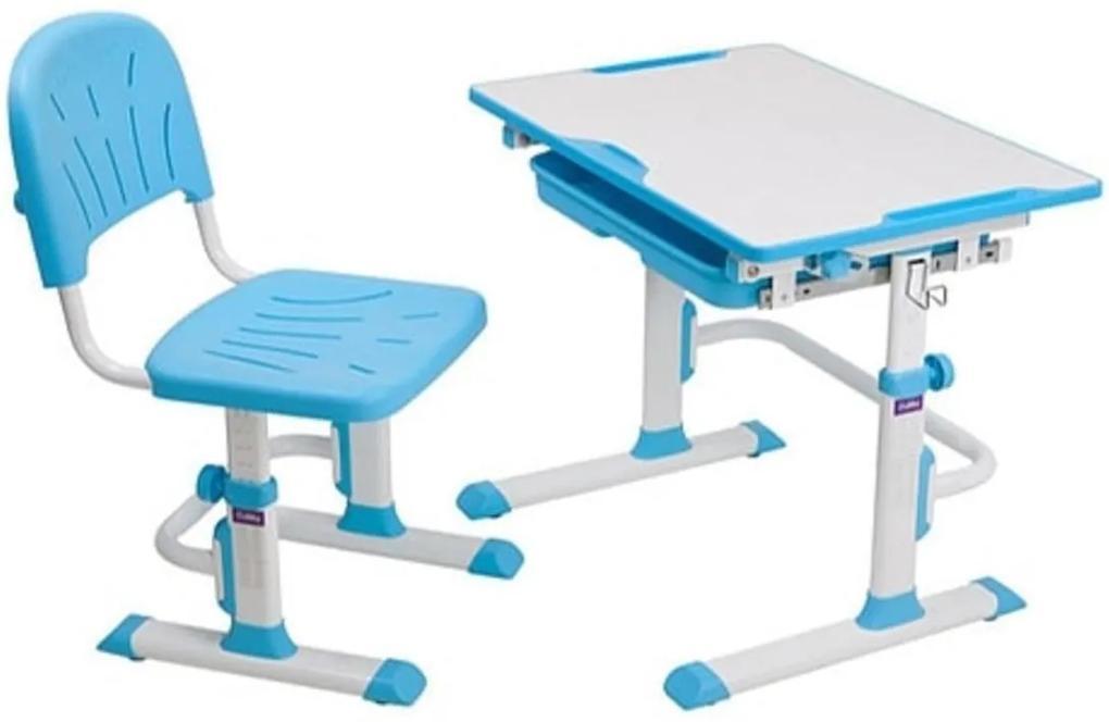 Fundesk Rastúci stôl CUBBY LUPIN + stolička Farba: Modrá
