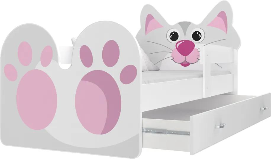 GL Mačička detská posteľ  180x80 Motív: Vzor 02