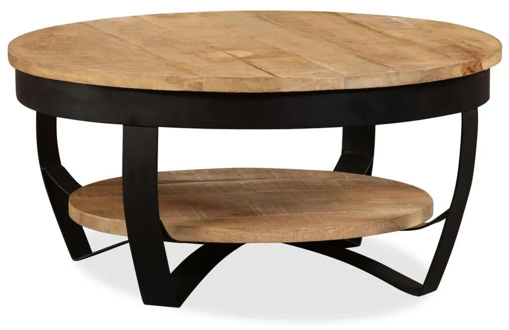vidaXL Konferenčný stolík, surový mangový masív 65x32 cm