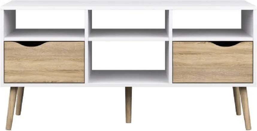 TV stolík, dub sonoma/biela, OSLO 75391