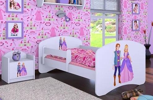 MAXMAX Detská posteľ bez šuplíku 180x90cm PRINC A PRINCEZNÁ