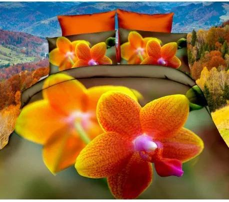 DR Posteľné obliečky 3D orchidea 140x200, 70x80