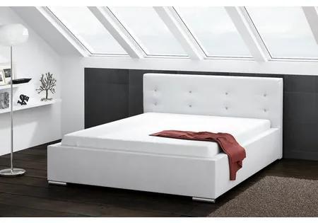 Čalúnená posteľ DAKOTA biela rozmer 140x200 cm