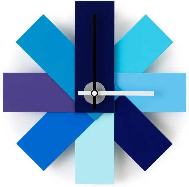 Normann Copenhagen Nástenné hodiny Watch Me, Blue