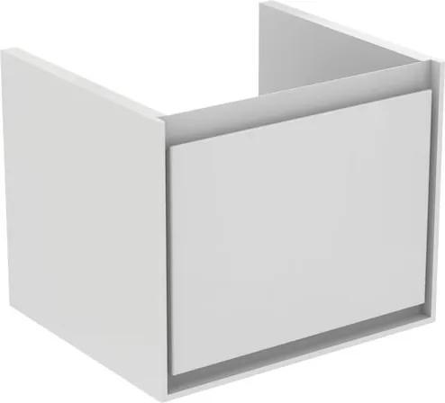 Skrinka pod umývadlo Ideal Standard CONNECT AIR 51,5 cm, LESKLÝ SV. SIVÝ+MATNÝ BIELY LA E0844EQ