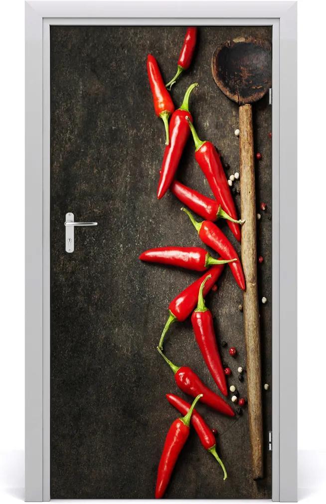 Fototapeta na dveře samolepící Chilli