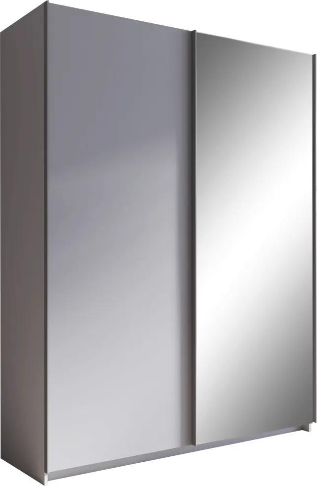 Skriňa s posúvacími dverami, sivá, 150, ROZINE