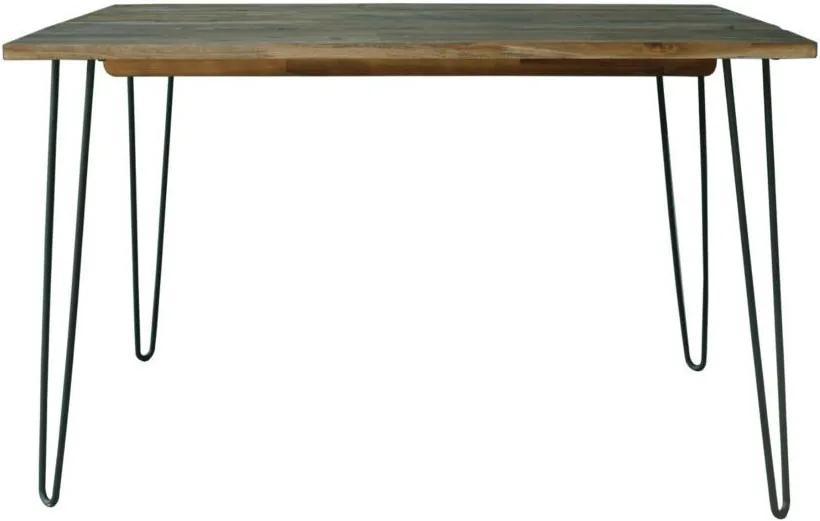 Jedálenský stôl Anaya, 120 cm, vintage hnedý