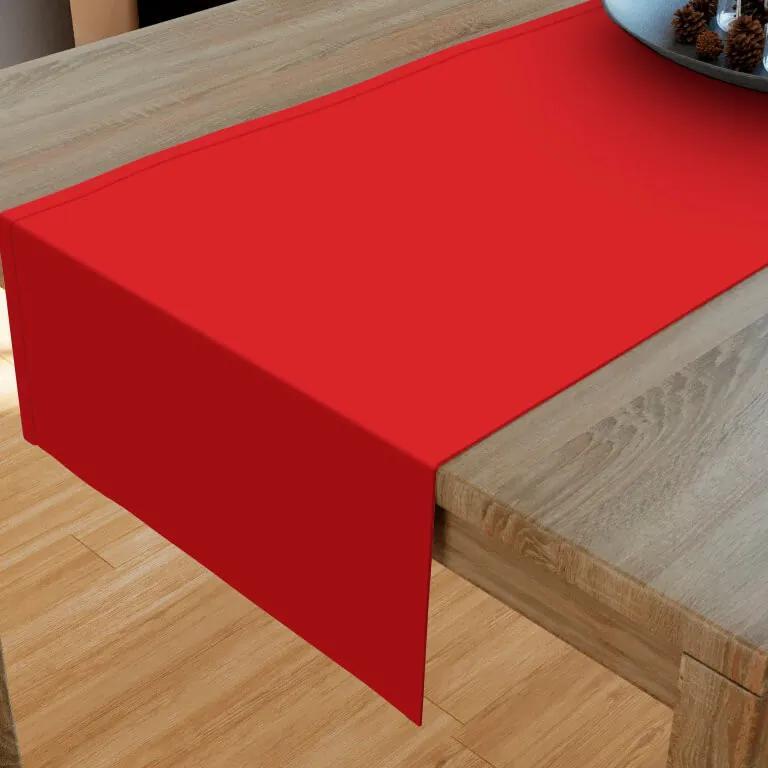 Goldea bavlnený behúň na stôl - červený 20x160 cm