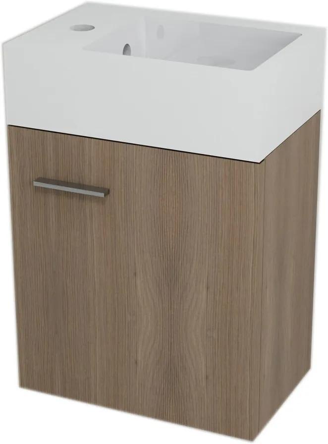 Latus V LT060 umývadlová skrinka 35,6x40x23 cm, orech bruno