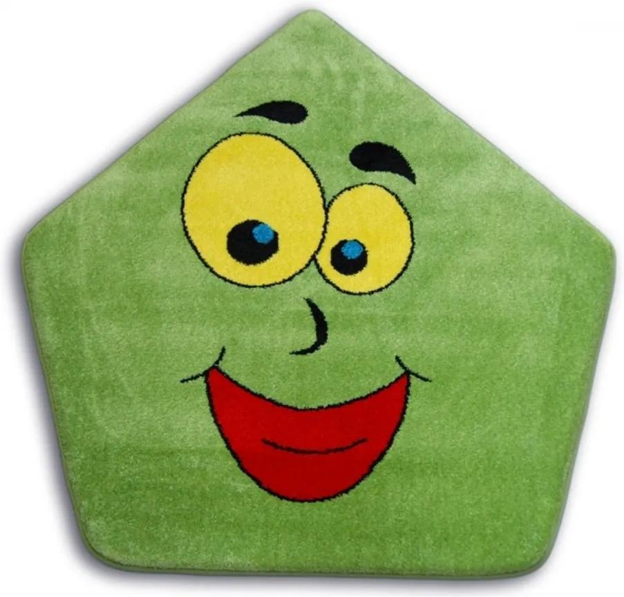 Detský kusový koberec Domček zelený, Velikosti 100cm