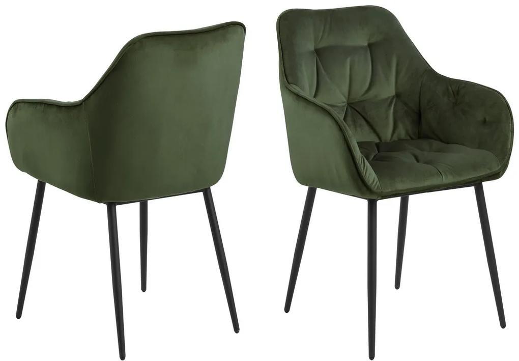 Dizajnová stolička Alarik, zelená