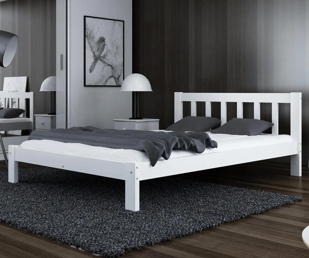 AMI nábytok Postel Alena bílá 120x200 masiv