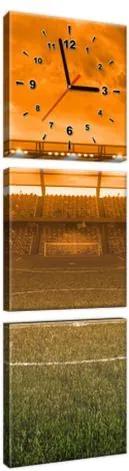 Obraz s hodinami Štadión pri západe 30x90cm ZP3963A_3V