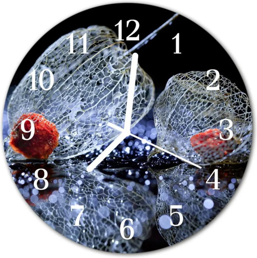 Nástenné skleněné hodiny umění